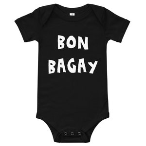 Ti Madanm Black Baby Cartoon Hibiscus Onesie T-Shirt