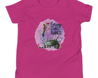 Enjoy the Little Things Youth Short Sleeve T-Shirt by Les Aventures de Kiki