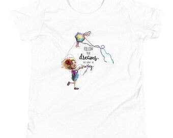 Follow your Dreams they know the way Youth Short Sleeve T-Shirt by Les Aventures de Kiki