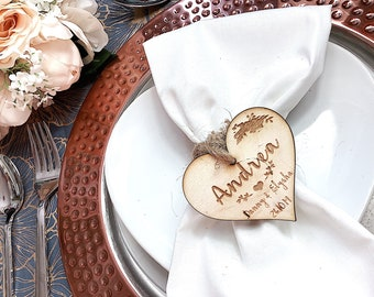 Wedding Table place setting name FREE UK Delivery
