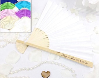 Wedding fan,  Personalised Fans, Paper Fan, Wedding Favours, Summer Wedding, Unique wedding favors
