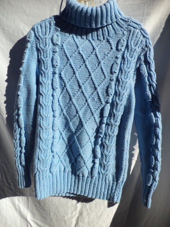 Handmade cable knit sweater