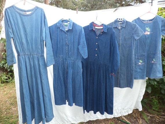 vintage five denim dresses