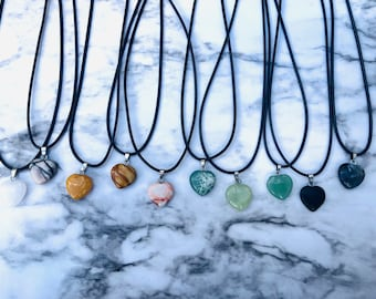 Stone Moon Necklace Usui Reiki charged Assorted