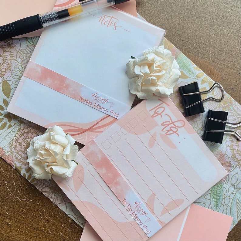 To Do and Notes Memo Pads