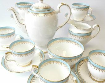 Salisbury starline bone china coffee set complete with sugar bowl and cream jug