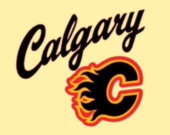 Calgary Flames Decal Etsy