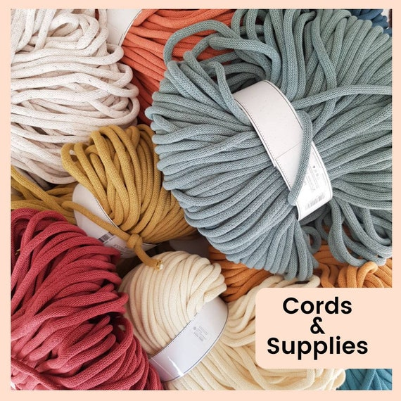 Macrame Craft Supplies,  Basket Weaving, Crafts and Jewellery Making, Recycled Cotton Cord for Rope Necklace, Easy Crafts