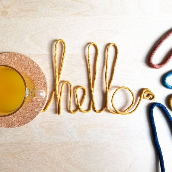 Personalised Hello Wire Word, Wall Hanging, Decorative Wall Art