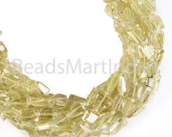 9 inch Strand Lemon Quartz Drill Nuggets Beads Lemon Quartz Beads Top Quality Natural Lemon Faceted Nuggets Beads Quartz Nuggets Beads