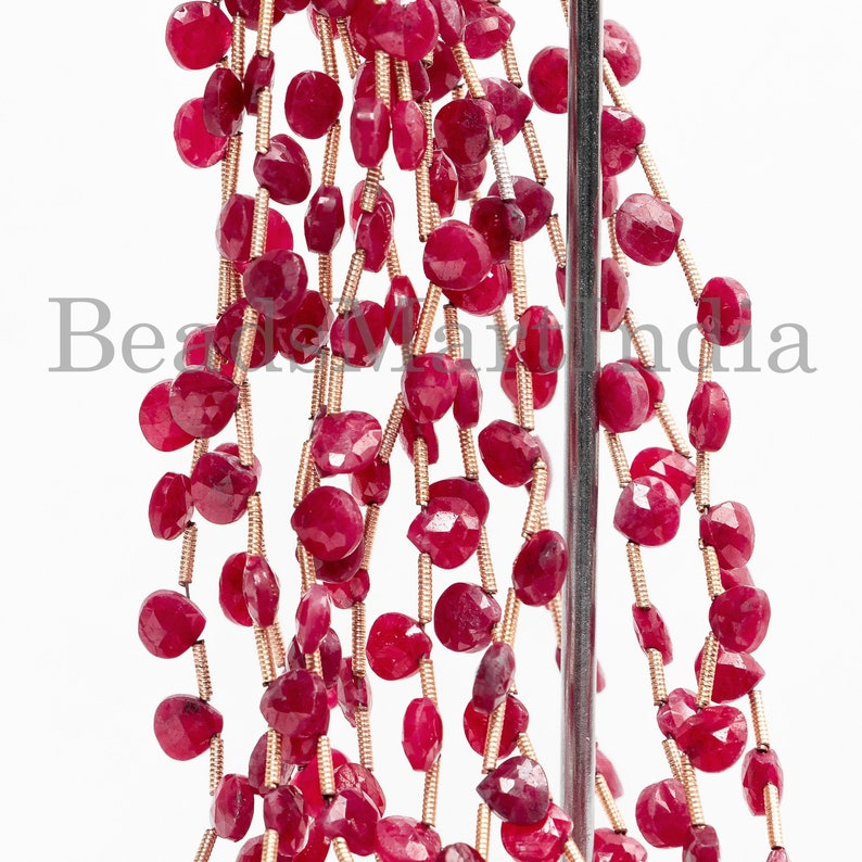 Ruby Faceted Heart Beads Ruby Faceted Beads Ruby New Arrival Beads Ruby Beads Natural Ruby Faceted Heart Shape New Arrival Beads