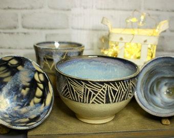 Opal Blue Mug and Bowls Set
