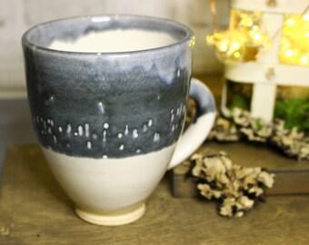 Blue and White Mug