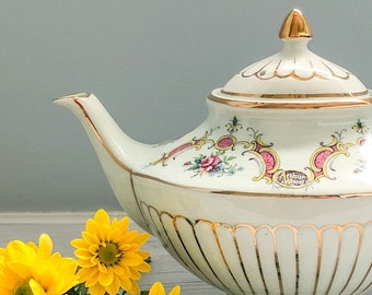 Arthur Wood Vintage Teapot - Celadon Pattern | Made in England | Vintage English Ceramic Teapot