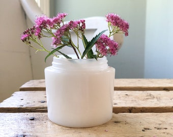 Vintage Pond's Cold Cream White Milk Glass Jar | Vintage Beauty Face Cream Bottle | Vintage Collectible Apothecary Jar | Bud Vase