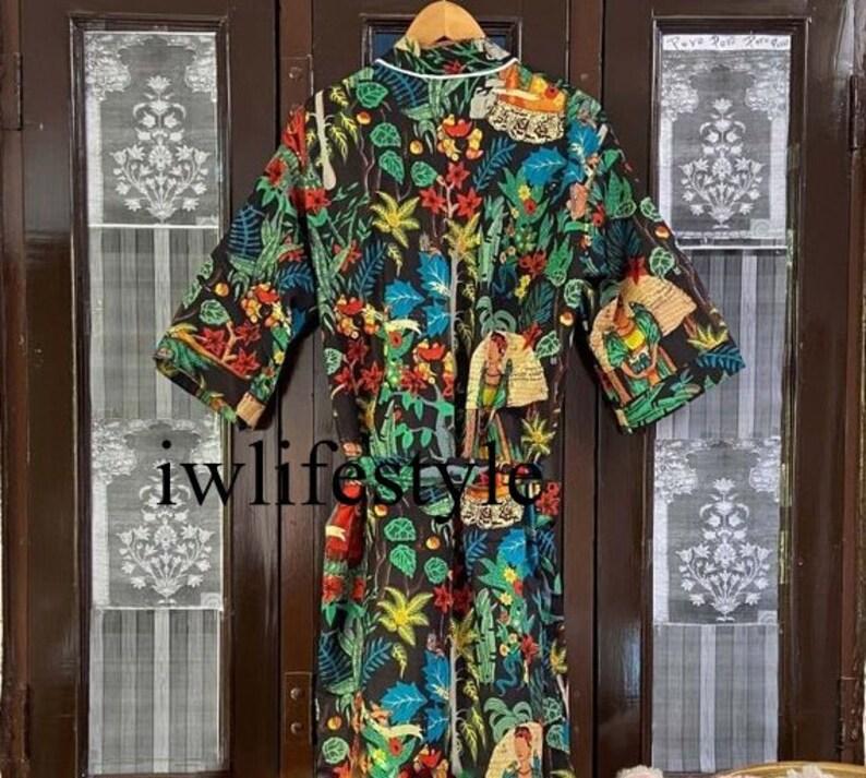 Bridal Robe Kimono dress Bridesmaid robes Boho kimono cotton Kimono Robe Dressing gown Vintage kimono mothers day Kimono Dragon