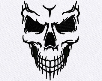 Skull And Crossbones Embroidery Design Skull PES File Skull Embroidery Design Poison Symbol Embroidery Design Digital File