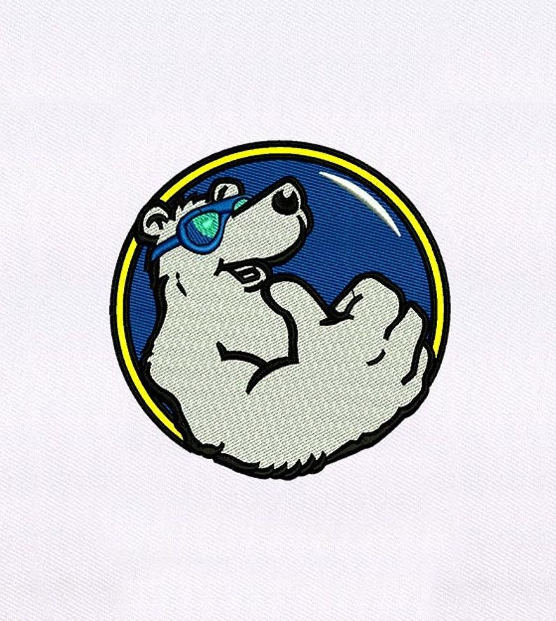 Polar Bear Machine Embroidery Design Cool Polar Bear Embroidery Design Snow Bear PES File Animal Embroidery Design Digital File