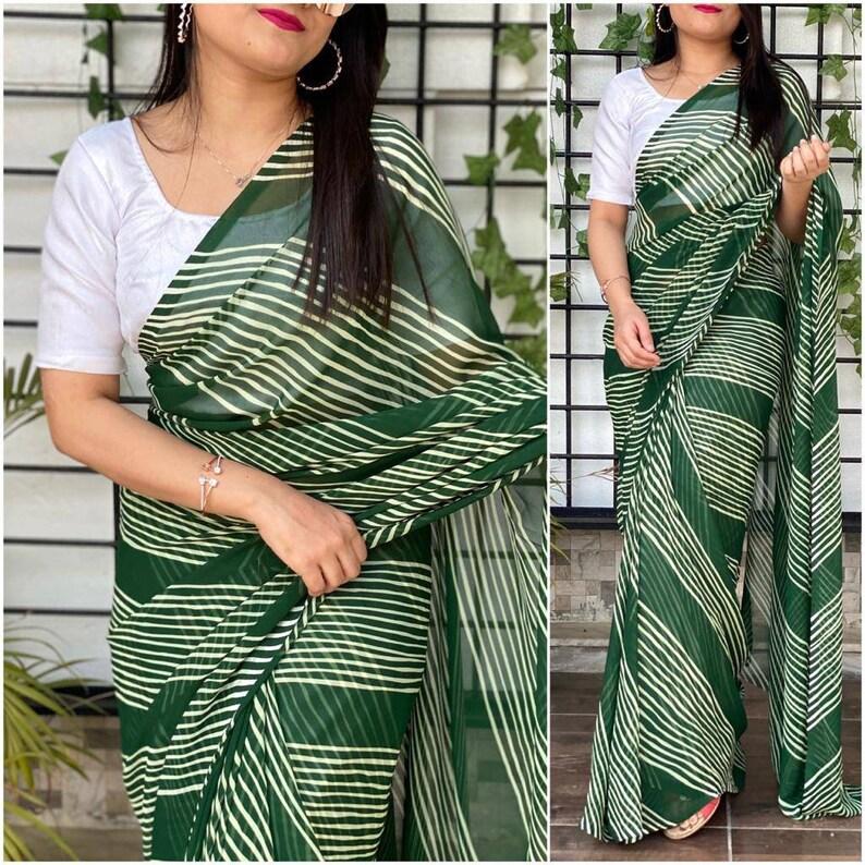 wedding saree saree dress designer saree Georgette saree and blouse for women,saree for women saree for women green saree indian saree