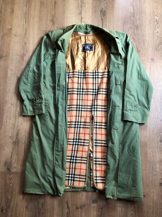 Burberry trench coat jacket vintage 90s rare cell