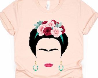 Frida Kahlo Feminist Pocket Tshirt Unisex Mens Womens Mexican Artist Feminista Feminist Shirt Rose Shirt Art Shirt