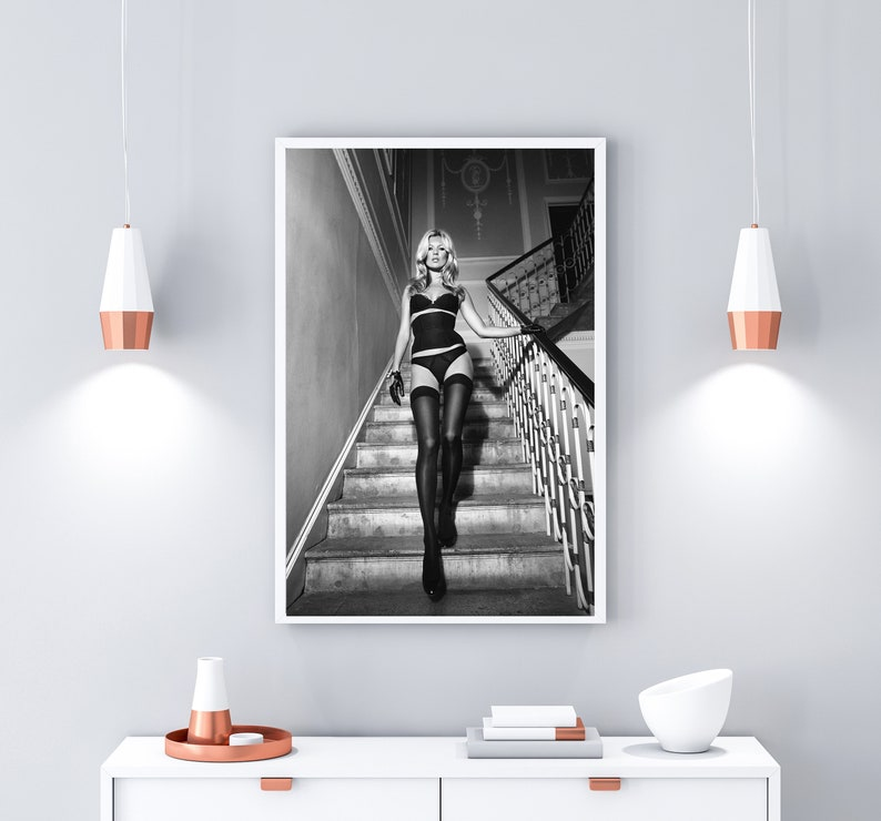 Kate Moss Printable Kate Moss Digital Print Stylish Home Gift for Her Instant Download Remarkable Women. Printable Poster