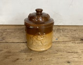 Antique Victorian Glazed Salt Glazed Royal Doulton Tobacco Jar Few Chips see photo 39 s otherwise in Good Condition