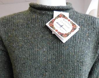 Irish Donegal Fisherman Sweater in 100% Donegal Tweed wool