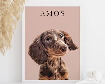 Pet Portrait, Custom Pet Portrait, Pet Memorial, Dog Portrait, Custom Dog Portrait, Cat Portrait, Pet Loss, Pet Gift, Pet Illustration