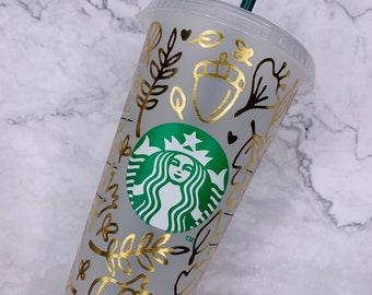 Fall Favorites Wrap Starbucks Coffee Reusable Cold Cup Venti