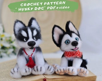 FREE Husky Amigurumi Crochet Pattern - OneLittleHook | 270x340