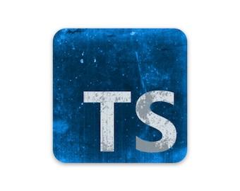Distressed TypeScript Sticker