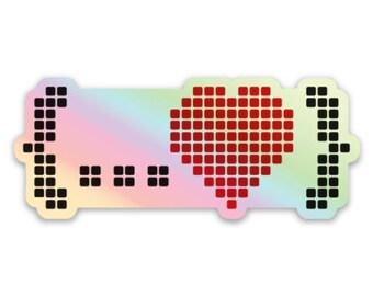 Holographic Spread Love Sticker