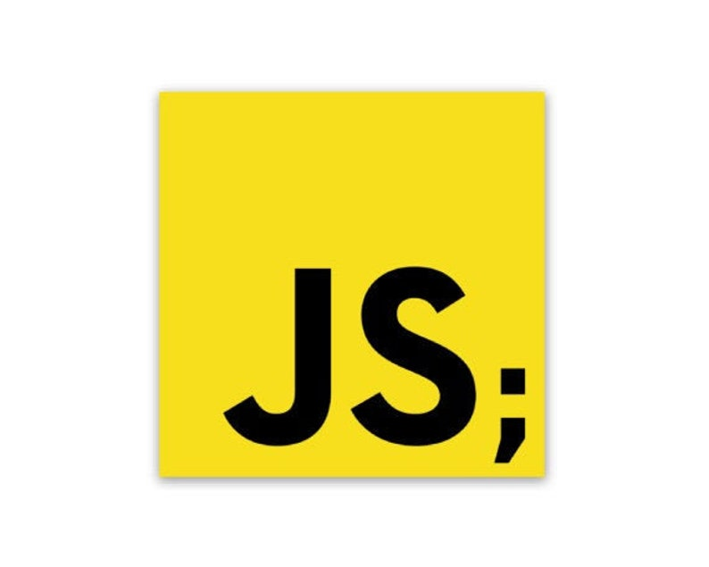 JavaScript Semicolon Sticker image 0