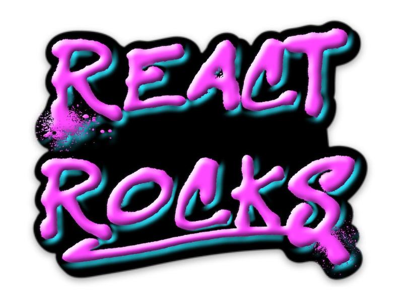 React Rocks Sticker image 0