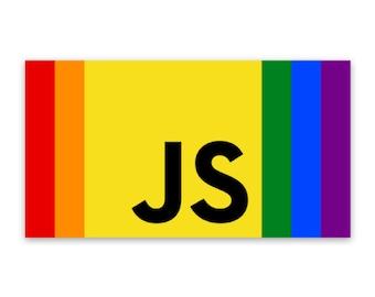 JavaScript Pride Sticker