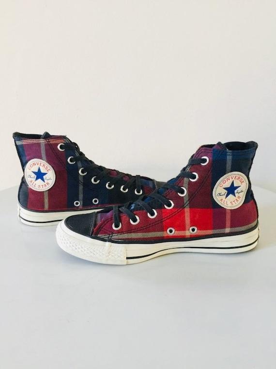 converse all star tartan