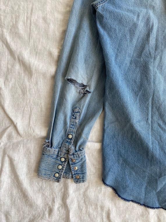 Vintage Wrangler Denim Western Shirt - image 3