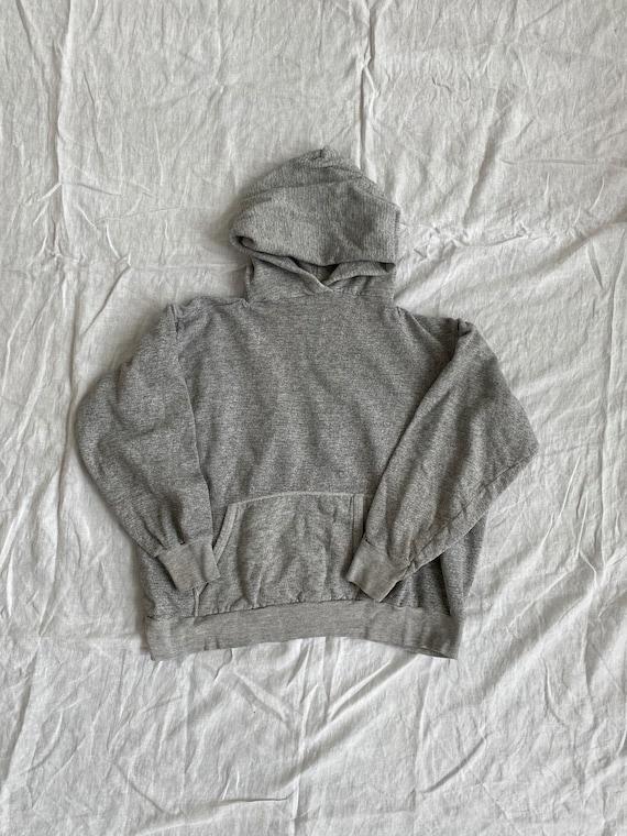 70s Vintage Grey Blank Hoodie