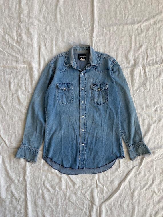 Vintage Wrangler Denim Western Shirt