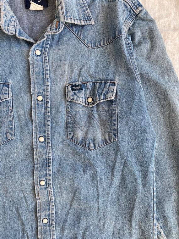 Vintage Wrangler Denim Western Shirt - image 6