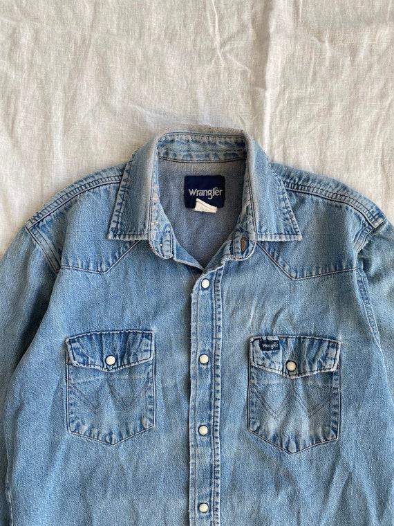 Vintage Wrangler Denim Western Shirt - image 2