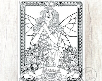Amazon.com: Flower Fairies Alphabet Coloring Book (9780723264965): Cicely  Mary Barker: Livres | 270x340