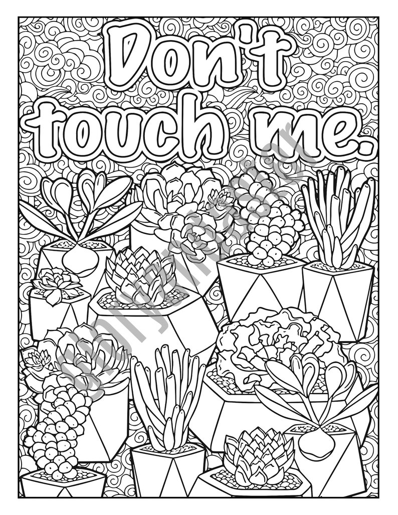 Succulent Coloring Page Adult Coloring Pages Funny ...