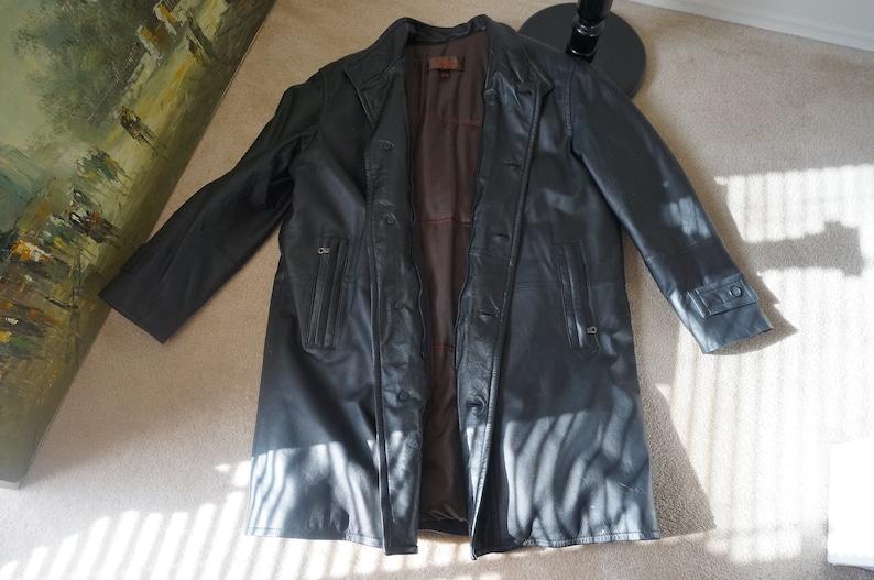 Danier, Genuine Leather Men Long Jacket Size XL
