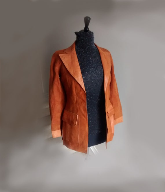 Vintage Double Sided Leather Suede Jacket, women J