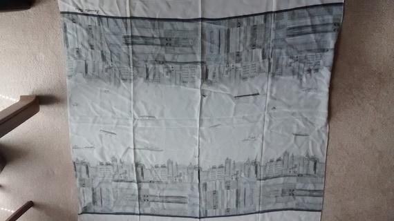 Preowned Skyline Chiffon-silk Scarf, Louella Odie,