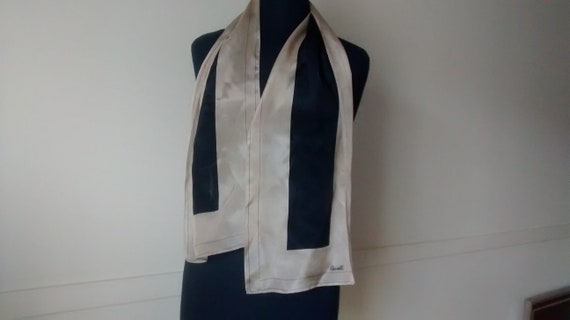 Vintage Revelli Bicolour Silk Neck Scarf, Brown Vi