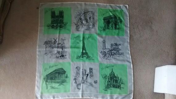 Vintage Scarf Paris 100% silk collection creat cit