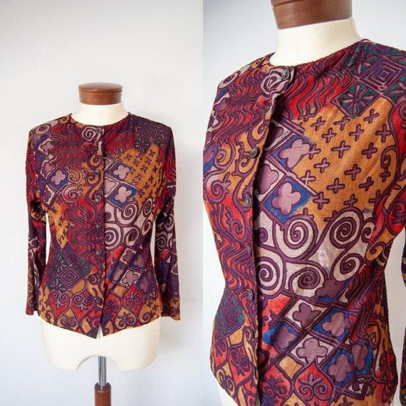 90s shirt, 1990s shirt, printed shirt, colorful sh